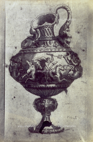 MFC-F-001778-0000 - Drawing of a project for a vase with allegorical figures by Polidoro da Caravaggio - Date of photography: 1865 ca. - Fratelli Alinari Museum Collections-Malandrini Collection, Florence