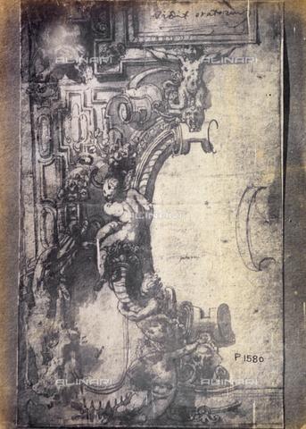MFC-F-001786-0000 - Disegno per un dipinto murale, opera di Francesco Salviati de' Rossi, detto Cecchino Salviati - Data dello scatto: 1865 ca. - Archivi Alinari, Firenze