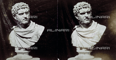 MFC-F-001832-0000 - The bust of Caracalla conserved at the National Museum of Capodimonte in Naples - Data dello scatto: 1860 - 1865 ca. - Archivi Alinari, Firenze
