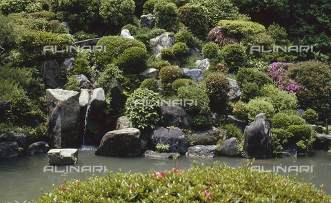 MFV-S-JPN369-0080 - Detail of the garden inside the Chishaku-in temple in Kyoto - Date of photography: 1963-1991 - Fosco Maraini/Gabinetto Vieusseux Property©Fratelli Alinari
