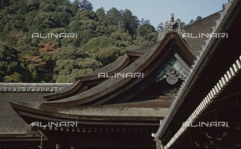 MFV-S-JPN369-0085 - Detail of the roof of a temple near Kyoto - Date of photography: 1963-1991 - Fosco Maraini/Gabinetto Vieusseux Property©Fratelli Alinari
