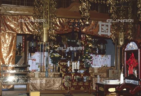 MFV-S-JPN369-0115 - Tempio di Jōshō-ji, particolare dell'interno, Kyoto - Data dello scatto: 1963-1991 - Fosco Maraini/Proprietà Gabinetto Vieusseux©Fratelli Alinari