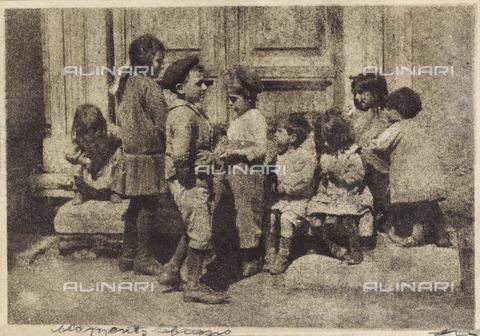 MLD-F-000145-0000 - Momento buono: gruppo di bambini - Data dello scatto: 1920-1929 - Archivi Alinari, Firenze