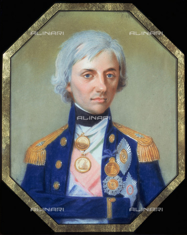 NMM-F-001806-0000 - Portrait of Horatio Nelson (1758-1805), British Admiral, crayon on paper, Schmidt, Johann Heinrich (1749-1829), National Maritime Museum, Greenwich, London - National Maritime Museum, London / Alinari Archives