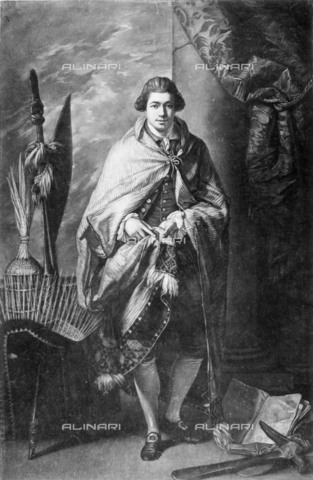 NMM-F-002961-0000 - Portrait of the English botanist Joseph Banks, mezzotint, John Raphael Smith (1752-1812) after Benjamin West, National Maritime Museum, Greenwich, London - National Maritime Museum, London / Alinari Archives