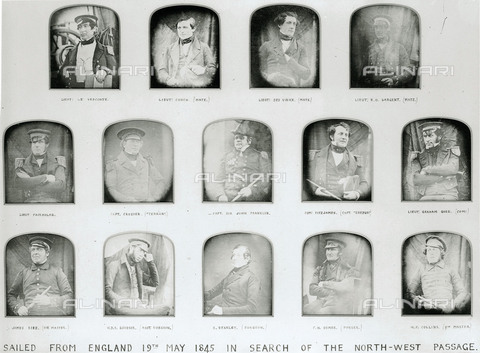 NMM-F-008859-0000 - The portraits of the officers who sailed in search of the passage to the north-west with Sir John Franklin in 1845, National Maritime Museum, London - Data dello scatto: 1845 - National Maritime Museum, London / Alinari Archives