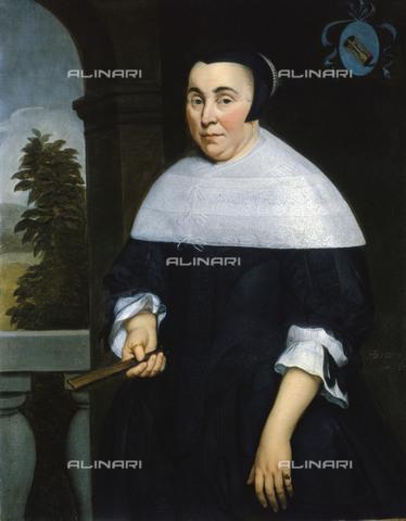 NMM-F-0F9442-0000 - Ritratto di Anna van Gelder (1613-1685), olio su tela, Hendrick Berckman (1629-1679), Museo Nazionale Marittimo, Greenwich, Londra - National Maritime Museum, Londra / Archivi Alinari
