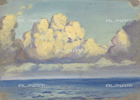 NMM-F-0S1087-0000 - Seascape,  watercolor, gouache and graphite on paper, John Everett (1876-1949), National Maritime Museum, Greenwich, London - National Maritime Museum, London / Alinari Archives
