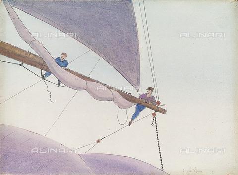 NMM-F-PY1036-0000 - Marinai, Herbert Barnard John Everett (1876–1949), Museo Nazionale Marittimo, Greenwich, Londra - National Maritime Museum, Londra / Archivi Alinari