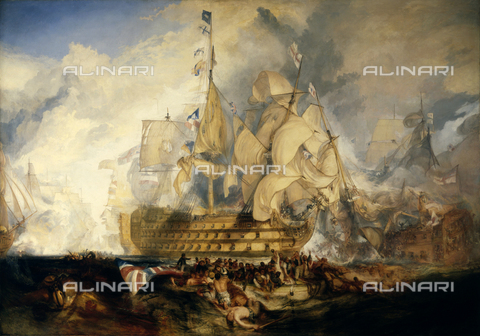 NMM-S-000BHC-0565 - The Battle of Trafalgar on October 21, 1805, oil on canvas, Turner, Joseph Mallord William (1775-1851), National Maritime Museum, Greenwich, London - Greenwich Hospital Collection / National Maritime Museum, London / Alinari Archives