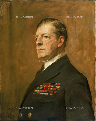 NMM-S-000BHC-2537 - Portrait of Admiral David Beatty, 1st Beat Count (1871-1936), oil on canvas, Sir Arthur Stockdale Cope (1857-1940), National Maritime Museum, Greenwich, London - National Maritime Museum, London / Alinari Archives