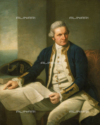 NMM-S-000BHC-2628 - Portrait of Captain James Cook (1728-1779), oil on canvas, Nathaniel Dance Holland (1735-1811), National Maritime Museum, Greenwich, London - National Maritime Museum, London / Alinari Archives