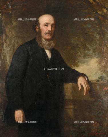 NMM-S-000BHC-2654 - Portrait of Peter Denny (1821-1895), oil on canvas, Sir Daniel Macnee (1806-1882), National Maritime Museum, Greenwich, London - National Maritime Museum, London / Alinari Archives