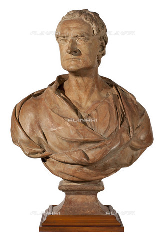 NMM-S-00L787-1001 - Isaac Newton (1642-1727), sculpture in terracotta, Louis-Francois Roubiliac (1695-1762), National Maritime Museum, Greenwich, London - National Maritime Museum, London / Alinari Archives