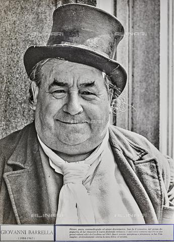 """NPA-F-000088-0000 - """"Fiera di Sinigaglia 1955""""-""""Giovanni Barella (1884-1967) pittore, poeta commediografo ed attore drammatico[...]"""" - Data dello scatto: 1955 - Archivi Alinari, Firenze"""