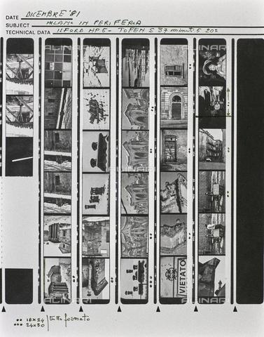 """NPA-F-000135-0000 - """"Dicembre '81 , Milano in periferia"""": vedute con la neve - Data dello scatto: 12/1981 - Archivi Alinari, Firenze"""