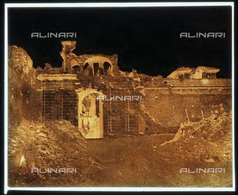 NVQ-F-000135-0000 - Rovine di Porta San Pancrazio, Roma - Data dello scatto: 1849 - Archivi Alinari, Firenze