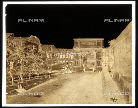 NVQ-F-000137-0000 - Veduta dell'Arco di Tito, Roma - Data dello scatto: 1848 - Archivi Alinari, Firenze