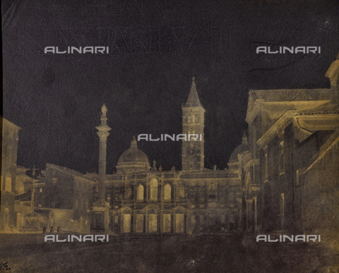 NVQ-F-000623-0000 - Facciata di Santa Maria Maggiore a Roma - Data dello scatto: 1850 - Archivi Alinari, Firenze