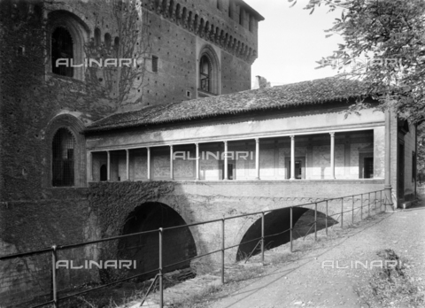 NVQ-S-001053-0004 - Sforza Castle, detail, Milan - Date of photography: 1920-1930 - Alinari Archives, Florence