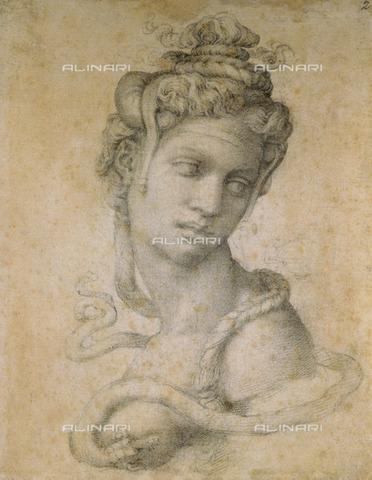 OBN-F-000309-0000 - Cleopatra, disegno, Michelangelo Buonarroti (1475-1564), Museo di Casa Buonarroti, Firenze - Nicolò Orsi Battaglini/Archivi Alinari, Firenze