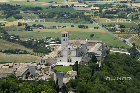 OBN-F-000703-0000 - Aerial View of Basilica of San Francesco in Assisi - Date of photography: 06/2012 - Nicolò Orsi Battaglini/Alinari Archives, Florence