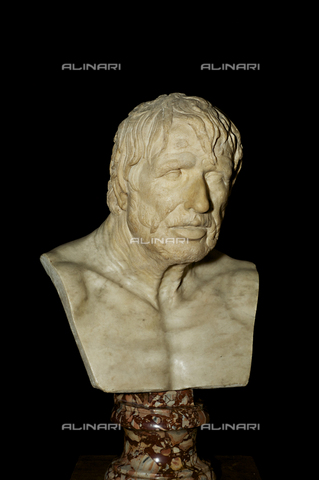 OBN-F-000721-0000 - Portrait of Dying Seneca (after the restoration, in July 2012), marble, Roman Art from the first century. A. D., The Uffizi Gallery, Florence - Date of photography: 12/07/2012 - Nicolò Orsi Battaglini/Alinari Archives, Florence, Courtesy of the Ministry of Heritage and Cultural Activities