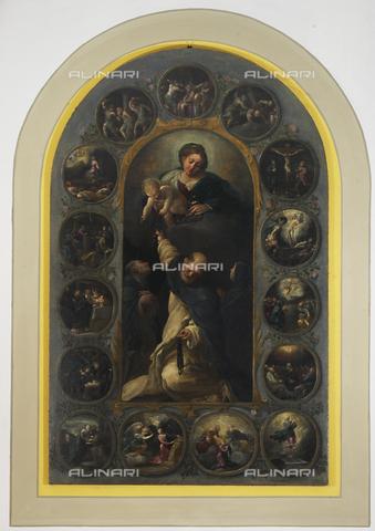 OBN-F-000725-0000 - Our Lady of the Rosary, oil on canvas, Pietro Faccini (1562 ca.-1602), Church of San Michele Arcangelo, Quarto Inferiore, Bologna - Date of photography: 07/2012 - Nicolò Orsi Battaglini/Alinari Archives, Florence