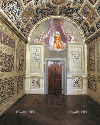 OBN-F-000729-0000 - Bezel set with Veronica, fresco, Pontormo, Jacopo Carrucci, said (1494-1557), the Chapel of the Popes, the Convent of Santa Maria Novella, Florence - Date of photography: 29/09/2014 - Nicolò Orsi Battaglini/Alinari Archives, Florence