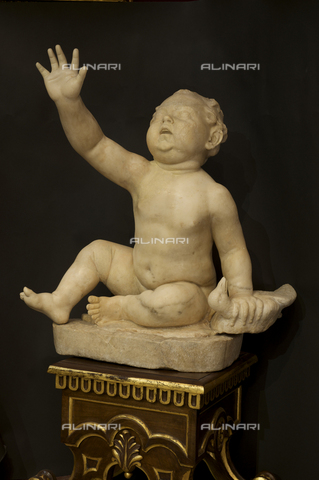 OBN-F-000737-0000 - Cherub with Goose, marble, Roman Hellenistic original, Galleria degli Uffizi, Florence - Date of photography: 29/09/2014 - Nicolò Orsi Battaglini/Alinari Archives, Florence, Courtesy of the Ministry of Heritage and Cultural Activities