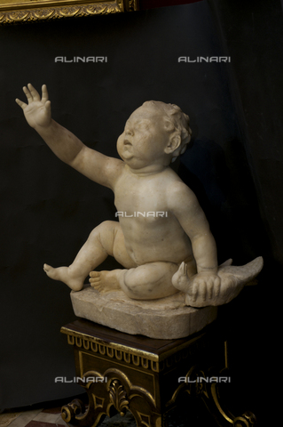 OBN-F-000740-0000 - Cherub with Goose, marble, Roman Hellenistic original, Galleria degli Uffizi, Florence - Date of photography: 29/09/2014 - Nicolò Orsi Battaglini/Alinari Archives, Florence, Courtesy of the Ministry of Heritage and Cultural Activities