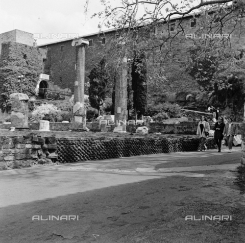 OMD-S-000183-0007 - The San Giusto Castle and the remains of the Roman basilica on the hill of San Giusto in Trieste - Date of photography: 25/04-01/05/1991 - Fratelli Alinari Museum - donation Orioli, Florence
