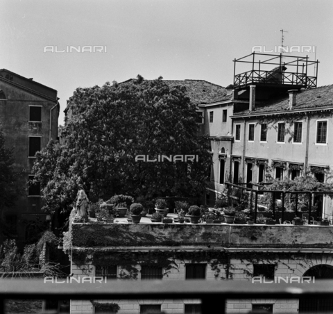 OMD-S-000429-0012 - Terrace of a building in Venice - Date of photography: 25/04-01/05/1991 - Fratelli Alinari Museum - donation Orioli, Florence