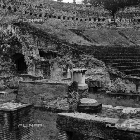 OMD-S-000436-0001 - The Roman theater of Trieste - Date of photography: 05/1991 - Fratelli Alinari Museum - donation Orioli, Florence