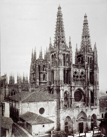 PDC-A-004568-0056 - The gothic cathedral Of Burgos in Spain - Date of photography: 1870-1880 ca. - Alinari Archives-Palazzoli Collection, Florence
