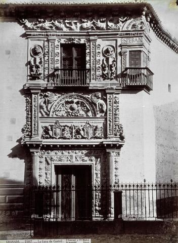 PDC-A-004568-0079 - Veduta della facciata della 'Casa de Castril', a Granada - Data dello scatto: 1870-1880 ca. - Raccolte Museali Fratelli Alinari (RMFA)-collezione Palazzoli, Firenze