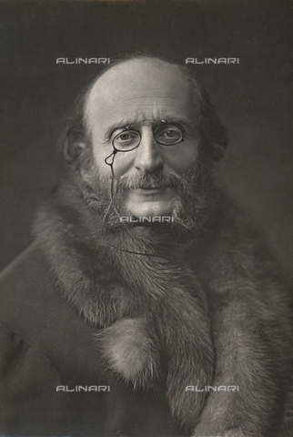 PDC-A-004661-0045 - Half-length portrait of the famous german composer Jacques Offenbach - Date of photography: 1876 ca. - Alinari Archives-Palazzoli Collection, Florence