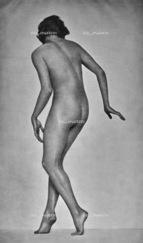 PDC-A-004668-0005 - Female back nude - Date of photography: 1935-1938 - Fratelli Alinari Museum Collections-Palazzoli Collection, Florence