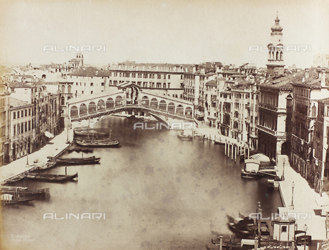 PDC-A-004682-0087 - Panoramic view of the Grand Canal with the Ponte di Rialto, Venice - Data dello scatto: 1865-1875 - Archivi Alinari, Firenze