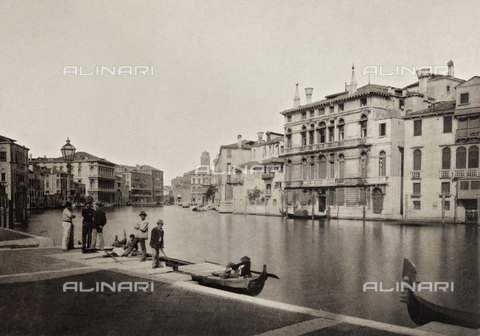PDC-A-005940-0057 - Veduta del Canal Grande a Venezia - Data dello scatto: 1890-1895 - Raccolte Museali Fratelli Alinari (RMFA)-collezione Palazzoli, Firenze
