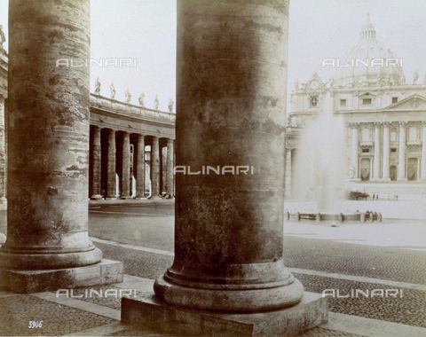 PDC-F-000132-0000 - Bernini's Colonnade, Colonnade of Piazza San Pietro, Rome- Vatican City
