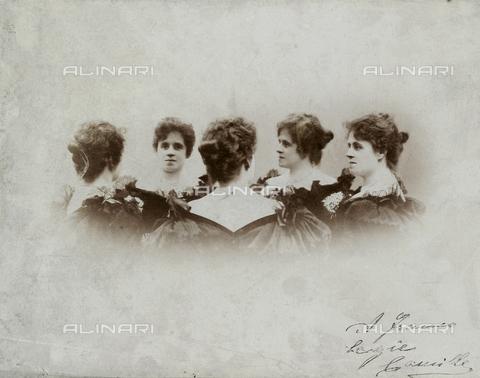 PDC-F-000273-0000 - Ritratto multiplo a mezzobusto, in cinque pose, della medesima donna