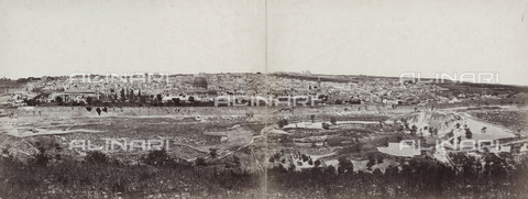 PDC-F-000361-0000 - Panorama of Jerusalem and the surrounding territory - Date of photography: 1860 - 1870 ca. - Alinari Archives-Palazzoli Collection, Florence