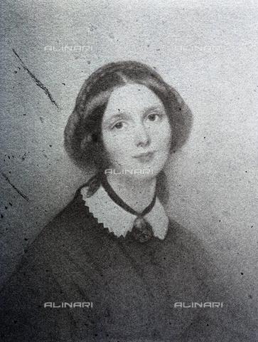 PDC-F-001395-0000 - Ritratto a mezzo busto di una giovane signora in abiti ottocenteschi - Data dello scatto: 1851 -1860 ca. - Raccolte Museali Fratelli Alinari (RMFA)-collezione Palazzoli, Firenze