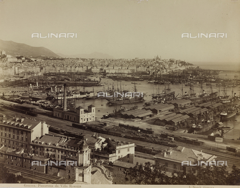 PDC-F-001538-0000 - Panorama of the city of Genoa with a view of the harbor - Data dello scatto: 1865 -1885 ca. - Archivi Alinari, Firenze