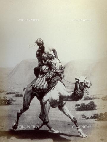 PDC-F-001748-0000 - L'immagine riproduce un'incisione raffigurante 'La posta nel deserto',dal dipinto del francese Horace Vernet - Data dello scatto: 1860-1870 ca. - Raccolte Museali Fratelli Alinari (RMFA)-collezione Palazzoli, Firenze