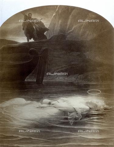 PDC-F-001752-0000 - L'immagine riproduce un'incisione raffigurante il dipinto di Paul Delaroche: 'La Martire Cristiana' - Data dello scatto: 1860-1870 ca. - Raccolte Museali Fratelli Alinari (RMFA)-collezione Palazzoli, Firenze