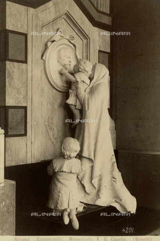 PDC-F-002800-0000 - The Picollo funeral monument in the monumental cemetery of Staglieno, Genoa - Data dello scatto: 1891-1900 ca. - Archivi Alinari, Firenze