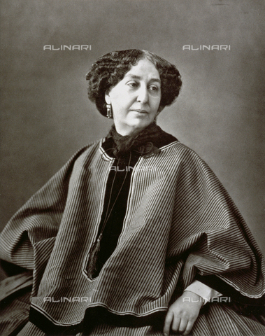 PDC-S-001528-0001 - Half-length portrait of the French writer George Sand - Date of photography: 1860 -1865 ca. - Alinari Archives-Palazzoli Collection, Florence