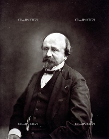 PDC-S-001528-0003 - Half-length portrait of the French playwright Edmond Gondinet - Date of photography: 1872 -1885 ca. - Alinari Archives-Palazzoli Collection, Florence